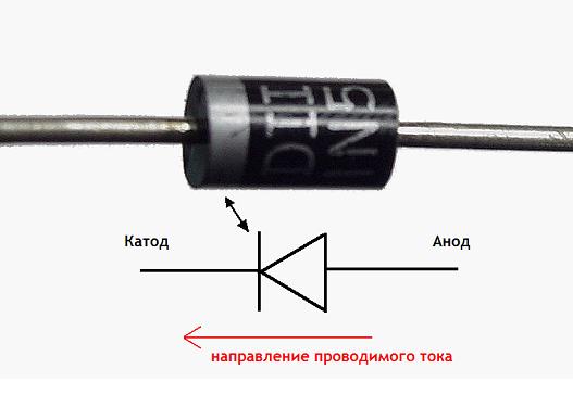 Диод 1N5401, схема